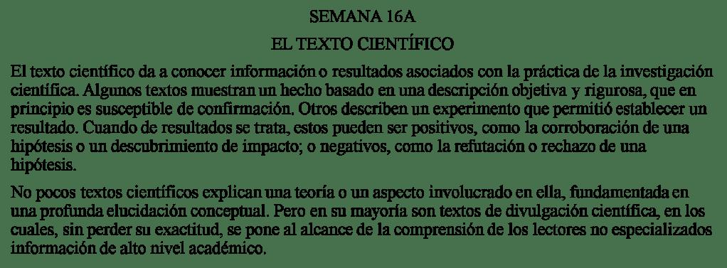 Textos Científicos Pre San Marcos 16 I