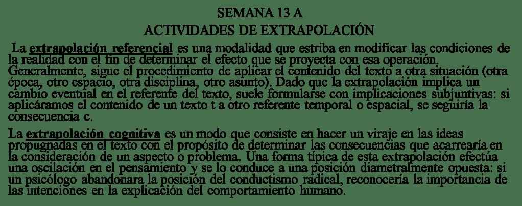 Extrapolación Pre San Marcos 13 I