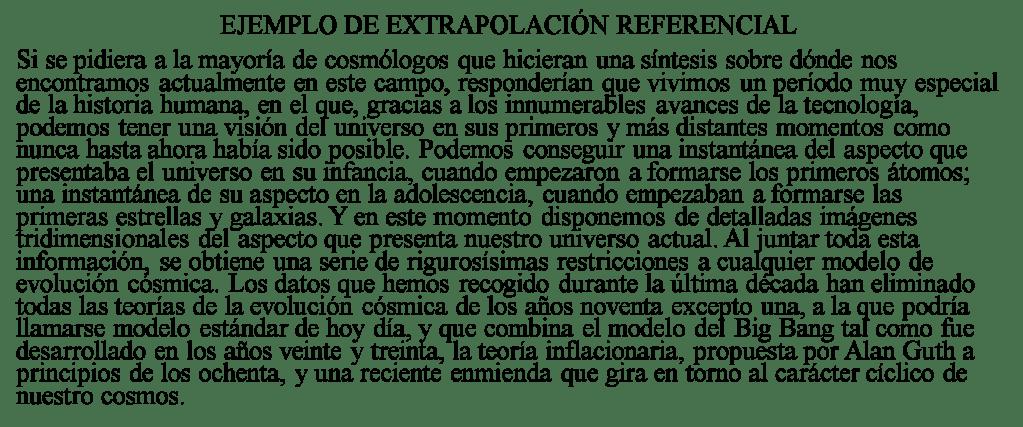 Ejempo de extrapolación referencial 13 I