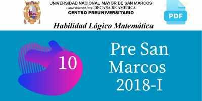 PDF Semana 10 Pre San Marcos 2018-I Solucionario y Boletín